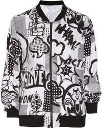 Equipment Abbot Printed Washedsilk Bomber Jacket - Lyst