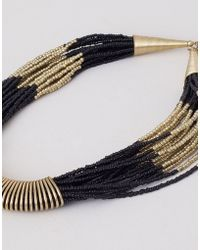 Pull&Bear Bead Necklace - Lyst