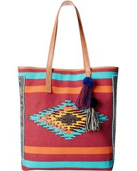 Sam Edelman Thea Tribal Beaded Tote red - Lyst