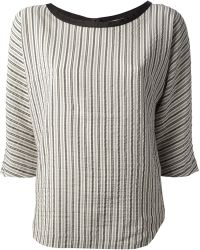 Forte Forte Striped Blouse - Lyst
