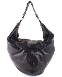 Chanel Pre-Owned Black Rock & Chain Hobo - Lyst