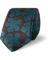 Burberry Prorsum Patterned Silk Tie - Lyst