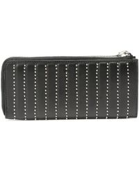 Alexander McQueen Black Leather Studded Continental Wallet - Lyst
