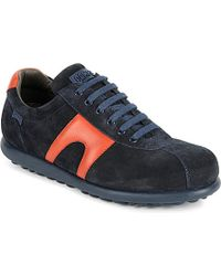 Camper Pela Bridge Leather And Suede Sneakers - For Men, Navy - Lyst