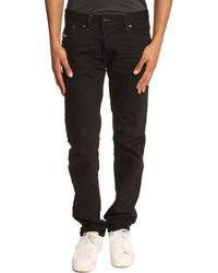 Diesel Darron Tapered Black Jeans - Lyst