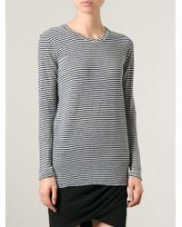 Etoile Isabel Marant Black Striped T-shirt - Lyst