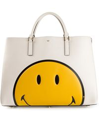 Anya Hindmarch Smiley Maxi Featherweight Tote - Lyst
