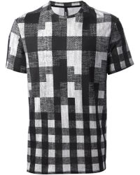 Neil Barrett Checked Tshirt - Lyst