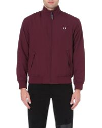 Fred Perry Lightweight Sailing Jacket Mahogony - Lyst