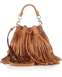 Rebecca Minkoff Fiona Fringed Bucket Bag - Lyst