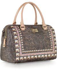 Class Roberto Cavalli Sigrid Animal Print Eco Leather Small Bowling Bag - Lyst