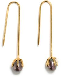 Lizzie Fortunato Eclipse Earrings In Pearl Grey gold - Lyst