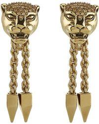 Roberto Cavalli Panther Earrings - Lyst
