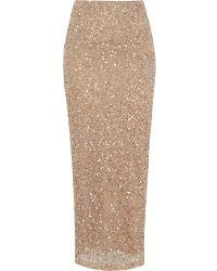 River Island Gold Sequin Maxi Skirt - Lyst