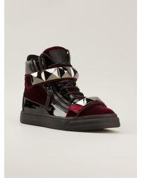 Giuseppe Zanotti Red Hi-top Sneakers - Lyst