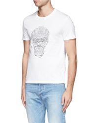 Alexander McQueen Hand Skull Stitch Tshirt - Lyst