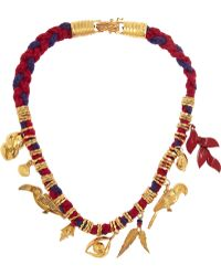 Virzi+de Luca Rio Goldplated and Cotton Charm Necklace - Lyst