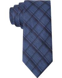 Calvin Klein Midnight Plaid Skinny Tie - Lyst
