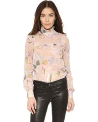 Jill Stuart | Azalea Long Sleeve Blouse - Powder | Lyst