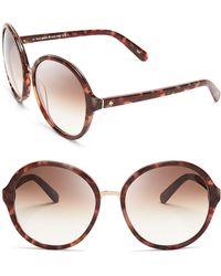 Kate Spade Bernadette Oversized Round Sunglasses - Lyst