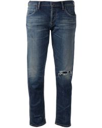 Citizens Of Humanity Distressed Boyfriend Jeans - Lyst