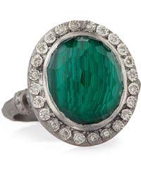 Armenta - New World Malachite Blue Topaz & Diamond Ring - Lyst