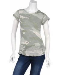 Majestic Perforate Back Camo Tee - Lyst