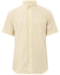 Steven Alan Single Needle Stripeprint Shirt - Lyst