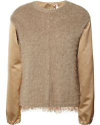 No 21 Marva Round Neck Knit with Macrame Trim - Lyst