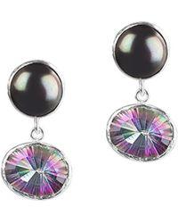 Toosis Black Pearl And Alexandrite Earrings - Lyst