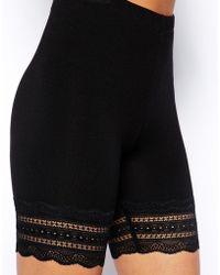 Asos Legging Shorts with Lace Hem - Lyst