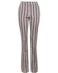 Topshop Tonic Stripe Print Bootcut Trousers - Lyst