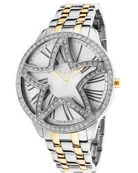 Thierry Mugler Womens Two-tone Stainless Steel Silver-tone Dial - Lyst