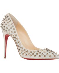 Christian Louboutin Follies Spikes Pumps - Lyst