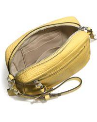 COACH - Bleecker Flight Wristlet in Pebbled Leather - Lyst