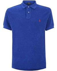 Polo Ralph Lauren Custom Fit Terry Polo Shirt - Lyst