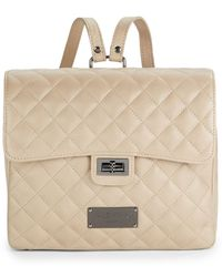 Valentino By Mario Valentino - Quilted Leather Backpack - Lyst
