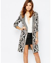 Warehouse - Pattern Cardi Coat - Lyst