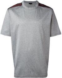Lanvin   Jacquard Shoulder T-shirt   Lyst