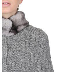 Vicedomini - Rex Rabbit Fur & Wool Cape Coat - Lyst