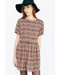 Glamorous Short-sleeve Printed Frock Dress - Lyst