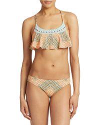 Nanette Lepore Paso Robles Flounce Bikini Top multicolor - Lyst
