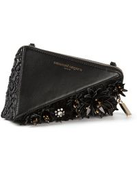 Emanuel Ungaro Geometric Structured Clutch - Lyst