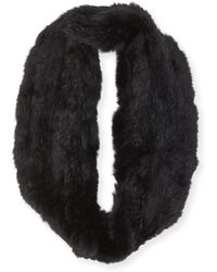 Jocelyn Rabbit Fur Infinity Scarf - Lyst