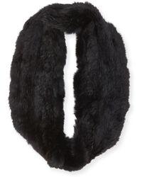 Jocelyn Rabbit Fur Infinity Scarf - Lyst