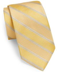 Samuelsohn - Stanley Striped Silk Tie - Lyst