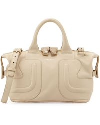 See By Chloé Kay Leather Satchel Bag Cream - Lyst