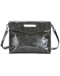 Mofe - Erudite Tablet-friendly Distressed Leather Messenger Bag With Inset Handle And Adjustable Strap - Lyst