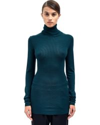 Lanvin Womens Knitted Turtle Neck Top - Lyst