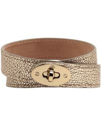 Mulberry Double Wrap Bayswater Bracelet - Lyst